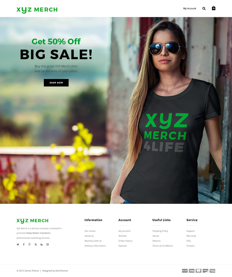 Sample Landing Page Version 1 featuring a woman with a dark gray shirt.