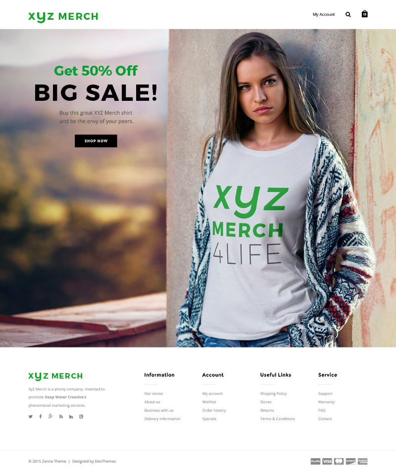 Sample Landing Page Version 2 featuring a woman with a white shirt.